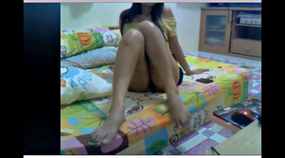 Mature webcam, Asian foot, Skype