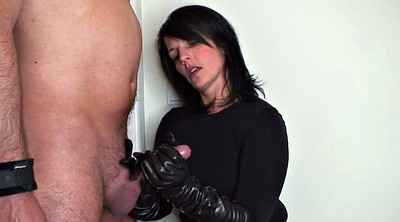 Gloves, Leather, Gloves handjob, Glove