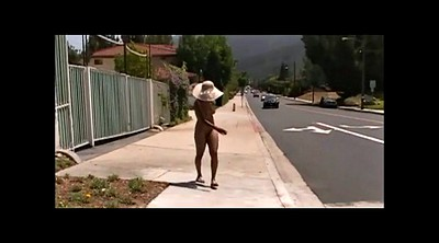 Outside, Woman, Sexy, Public naked