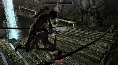 Cartoon, Skyrim, Public bdsm