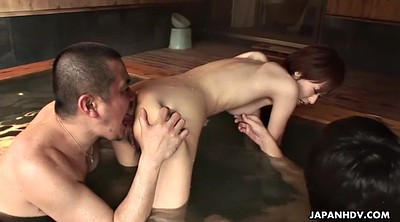 Japanese handjob, Sauna, Asian group, Two girls, Japanese ass, Japanese doggy