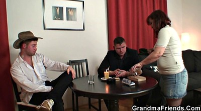 Young old, Poker, Mature young, Granny stripping
