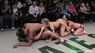 Bikini, Wrestling, Fight, Interracial lesbian, Fighting
