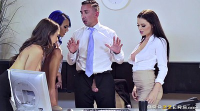 Boss, Secretary, Lana rhoades, Riley reid, Lana rhoads, Office sex