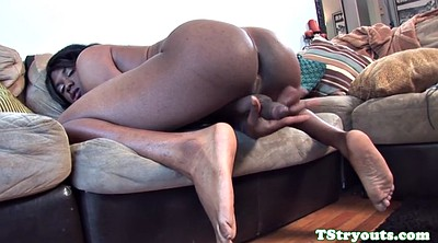 Ebony, Trans, Masturbating, Ebony solo, Ebony shemale, Auditions