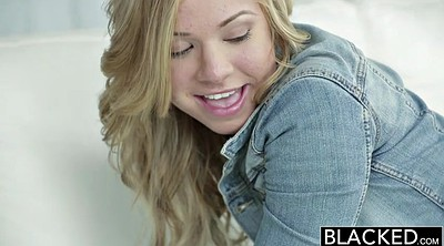 Tongue, Blonde teen interracial