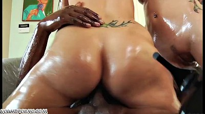 Interracial, Oiled anal, Black oil