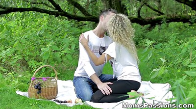 Mom fuck, Picnic, Fucking mom, Blanket, Romantic mom, Mom outdoor
