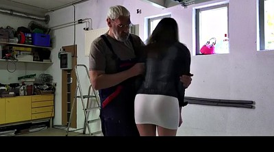 Old man, Young girl anal