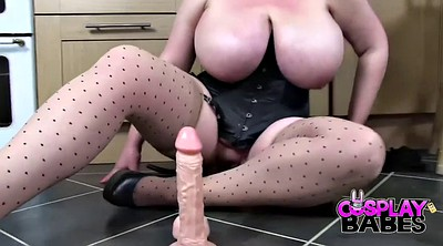 Cosplay, Dildo orgasm, Mature sex