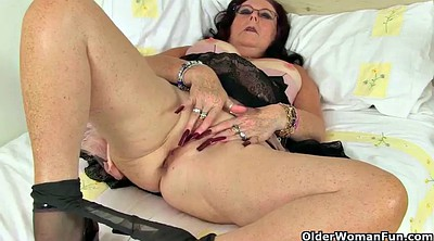 Old, Mature pantyhose, Mature masturbating