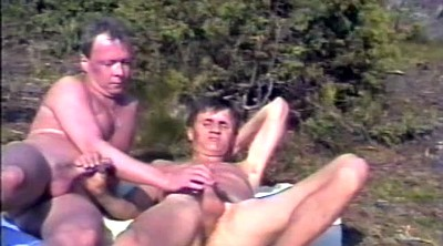 Daddy, Outdoor, Young and old, Norwegian, Granny handjob