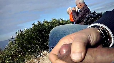 Flash, Dickflash, Mature outdoor, Granny couple