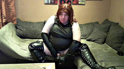 Leather, Stroke, Leather boots