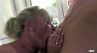 Mouth, Cum in mouth, German mature