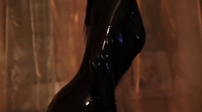 High, Latex boots