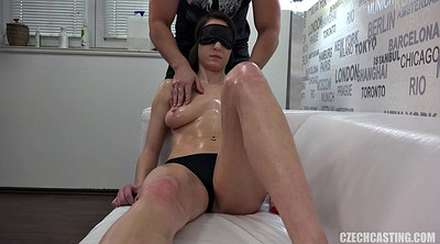 Czech massage, Blindfold, Czech casting, Blindfolded