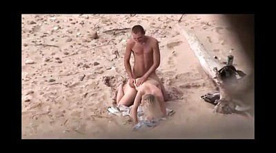 Beach sex, Young couple, Milf young