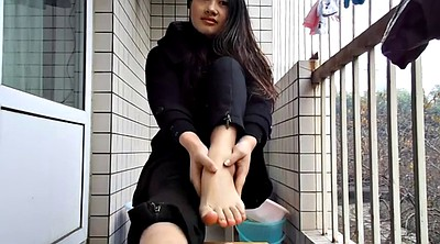 Chinese teen, Foot sole, Chinese foot fetish, Chinese foot