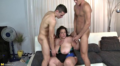 Mother, Young boys, Mature boy
