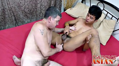 Asian, Daddy gay, Shower, Daddies