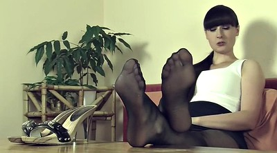 Pantyhose feet, Mistress t, Nylon fetish