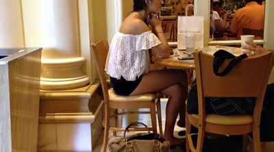 Cafe, Teen foot, Short girl