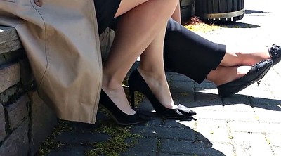 Upskirt, High heels, Shoe, Candid feet, Candid, Candid foot