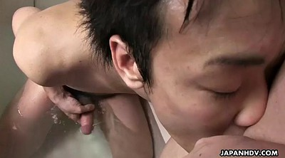 Japanese mature, Bath, Japanese handjob, Femdom handjob, Japanese stepmom, Chubby asian