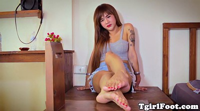 Ladyboy, Foot love, Shemale feet, Closeup