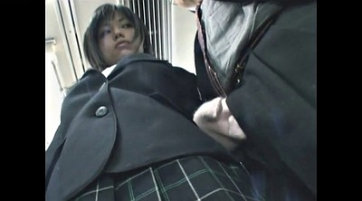 Japanese handjob, Asian upskirt