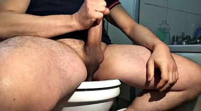 Toilet, Voyeur toilet, Jerking off, Jerk off instruction