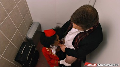 Toilet, Gloves, Stewardess, Clothes, Clothed