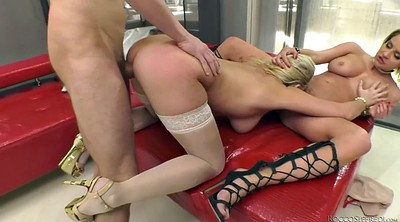 Stockings, Public handjob, Handjob public