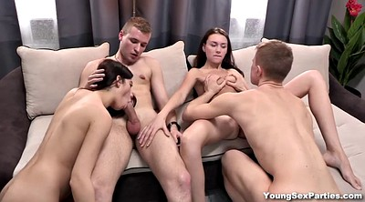 Swap, Kissing, Swingers orgy, Russian