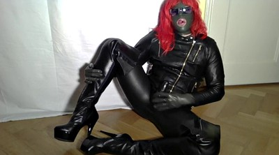 Boots, Latex, Crossdress, Boot