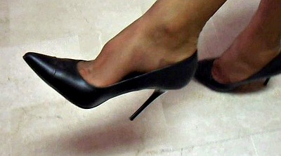 Shoes, Office foot, Nylons