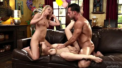 Julia ann, Ann, Mature threesome, Cross