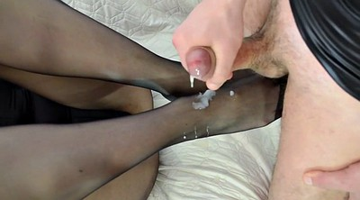 Nylon, Nylon footjob, Pantyhose footjob, Nylon feet, Nylon foot, Pantyhose foot