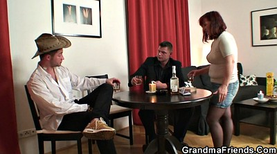Strip, Old mature, Wife threesome, Grannies, Poker