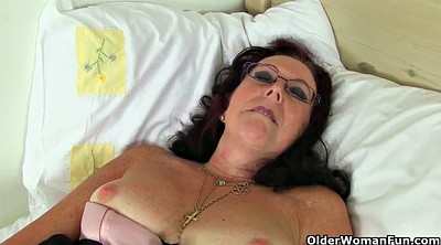 Mature pantyhose, British granny