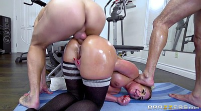 Big ass, Phoenix marie, Gym, Train, Marie, Two dick