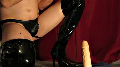 Huge dildo, Gay boots