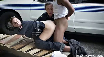 Police, White ass, Outdoor, Cfnm