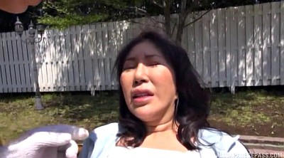 Japanese big tits, Milf outdoor