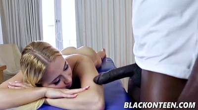 Nicole, Teen ebony, Happy ending, Reverse cowgirl
