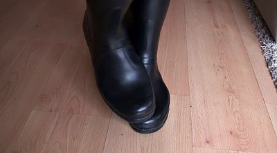 Boots, Hunter, Foot licking, Latex boots, Boots fetish