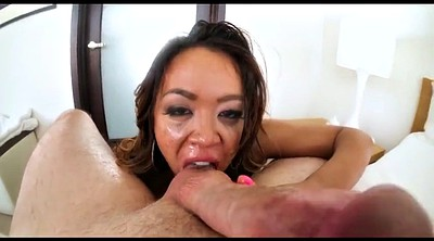 Deepthroat, Pov blowjob, Sloppy blowjob, Pov busty, Asian facial