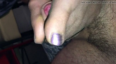 Nylon footjob, Polish, Footjob nylon