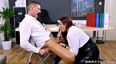 Office, Emma butt, Big butt, Ball, Sucking balls, Balls sucking